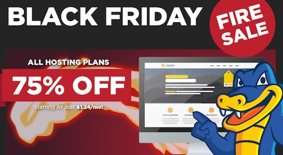 Hostgator Black Friday 75% Sale Image