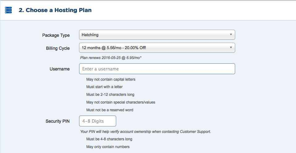 buy shared hosting step#4