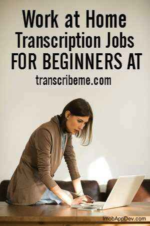 make money from home doing transcription work